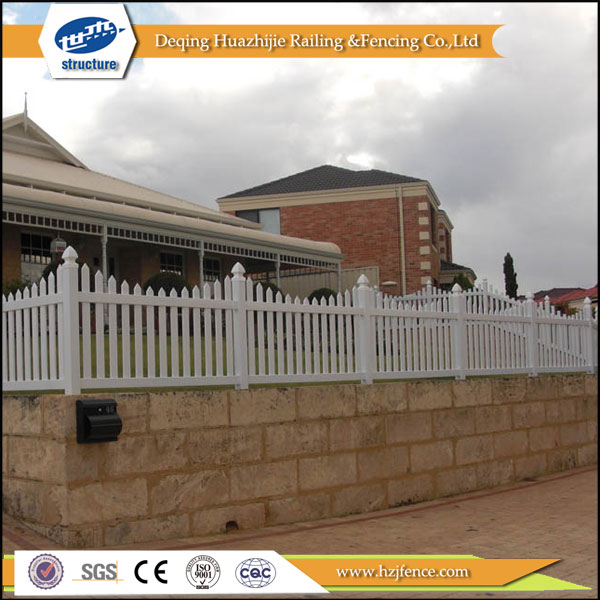 vinyl plastic picket white color garden fences