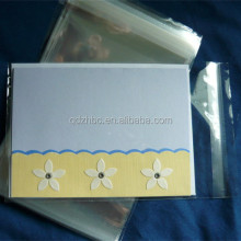 Party Resealable clear cello bag for card packaging