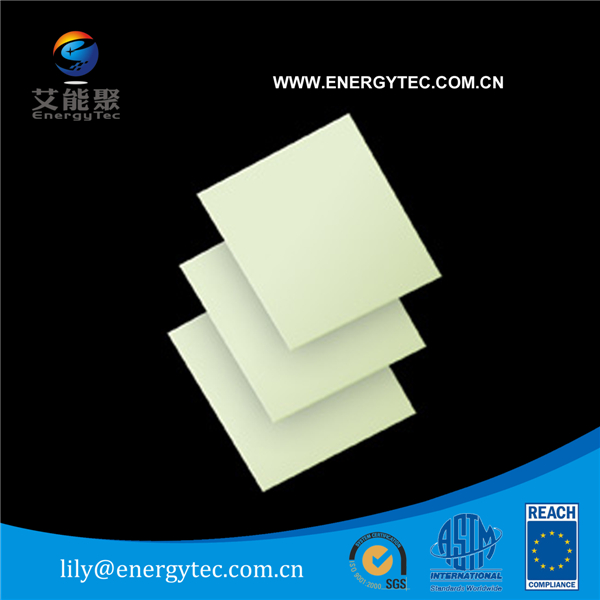 Photoluminescent pvc sheet for UL 924 Safety sign