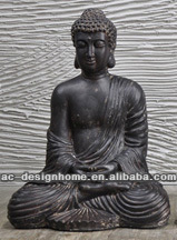 FIBRE CLAY SEATING BUDDHA STATUE