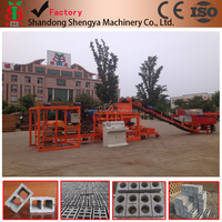Trade Assurance ! QTJ4-25 automatic concrete hollow block making machine small production line