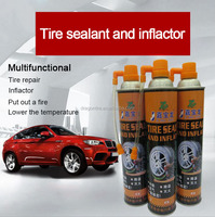 Emergency fire extinguisher tire repair tire sealant and inflator