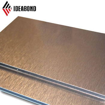 Gold Brushed ACP FIre-proof Aluminum Composite Panel