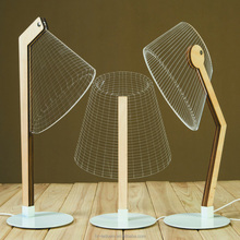 Luminous Lampshades Table Lamp 3D Illusion Bulbing Lamp Handmade LED Desk Light 3D LED Night Light