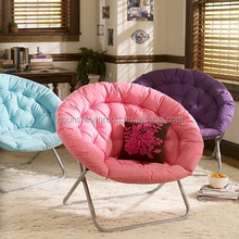 Folding round lounge chair,moon chair