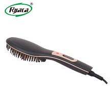 RYACA Newest ceramic electric hair brush straightener