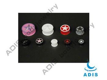 3-D Silicone Star Plugs,ear double flare tunnels