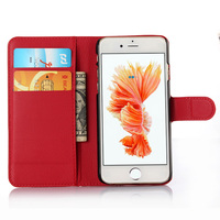 Premium PU Leather Flip Wallet Case Cover For Apple iPhone 6S