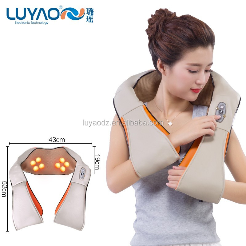Hot new infrared kneading electric back neck shoulder massager LY-803N