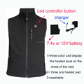 2016 winter high quality rechargeable battery waterproof heated vest