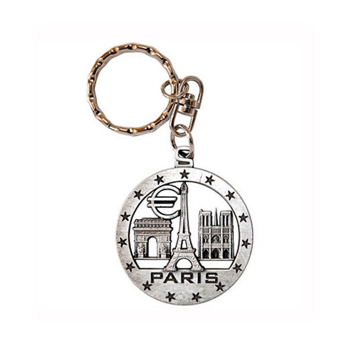 travel souvenir eiffel tower key ring custom chains. Black Bedroom Furniture Sets. Home Design Ideas