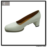 2014 fashion white shined sheep leather women dress shoes / office shoes for women / army lady shoes made in China
