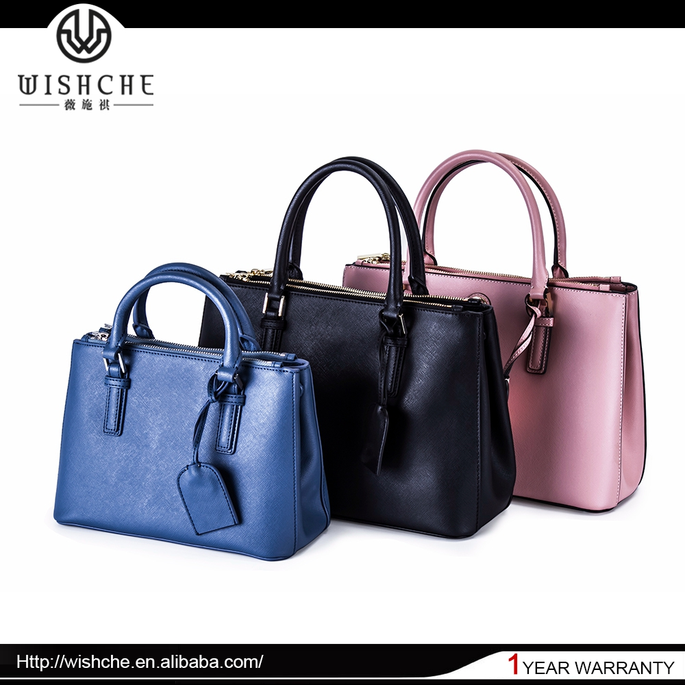 Wishche W0018 2016 New Fashion Women Famous Brand Designer Bags for Ladies Saffiano Mexican Leather Handbags