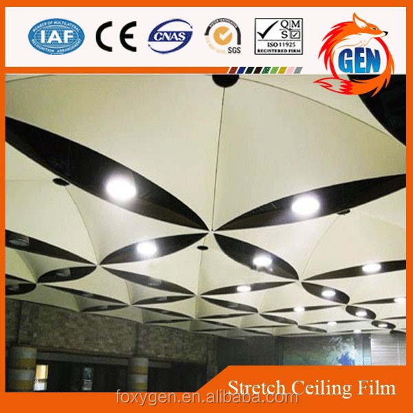 Project water proof building material stretch ceiling system with 15-year warranty for hotels