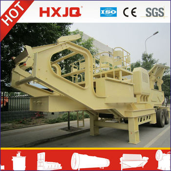2013 New type mobile stone crushing plant with screen and support legs