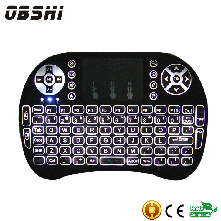 Factory supply I8 Fly Air Mouse And Mini Wireless Gaming Keyboard 2.4ghz Remote Control