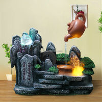 2010 New Log and Stone Tabletop Indoor Water Fountain w/ LED Light by Kettle fountain