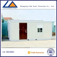Good Insulation and Damp Resistance Living 20ft Container Foldable House