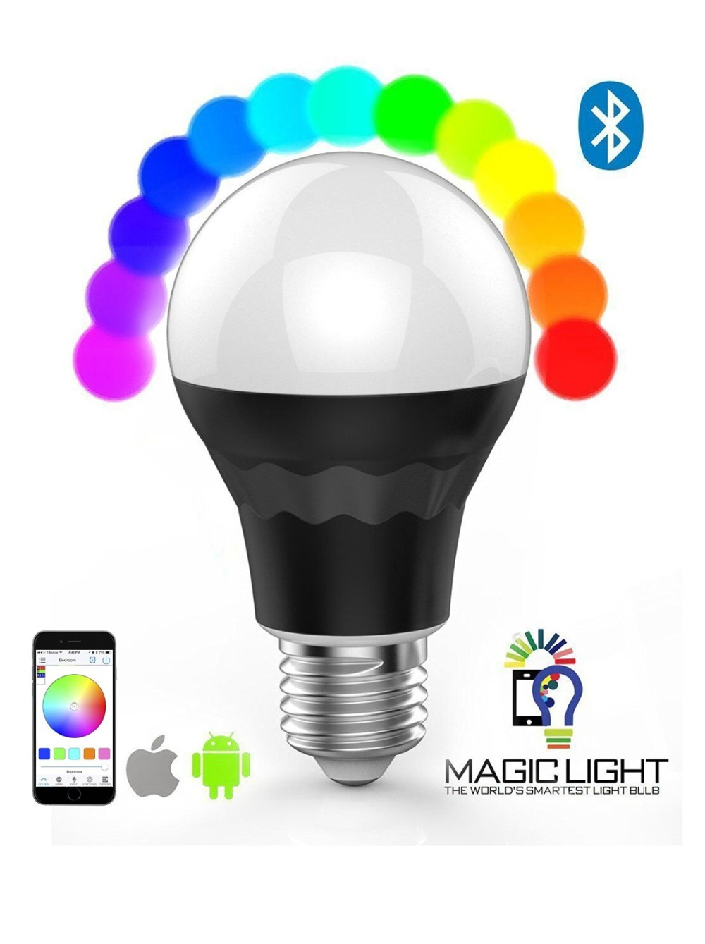 smart led light bulb smart phone control 9w wireless led bulb light. Black Bedroom Furniture Sets. Home Design Ideas