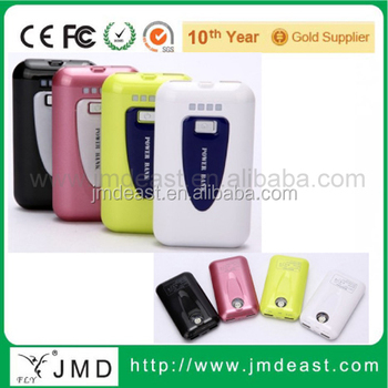 Promotional LED power bank 3600mah, 7800mah Power Supply, yellow power bank