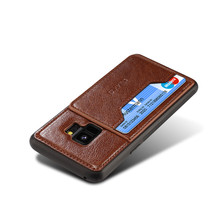 Best Good Top Brand 3 In 1 Credit Card Holder Cell Phone Holster Shell Leather Case For Iphone 6 6s 7 Plus For Apple For Samsung