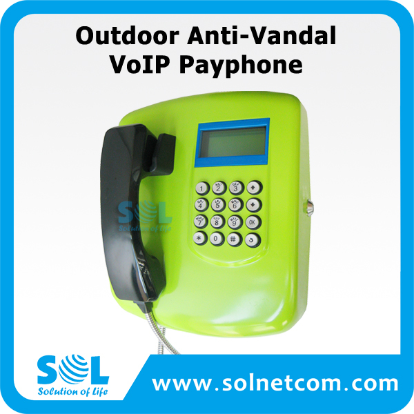 Outdoor Anti-Vandal VoIP Payphone