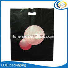 Clothes shopping bag custom die cut handle plastic bags with logo