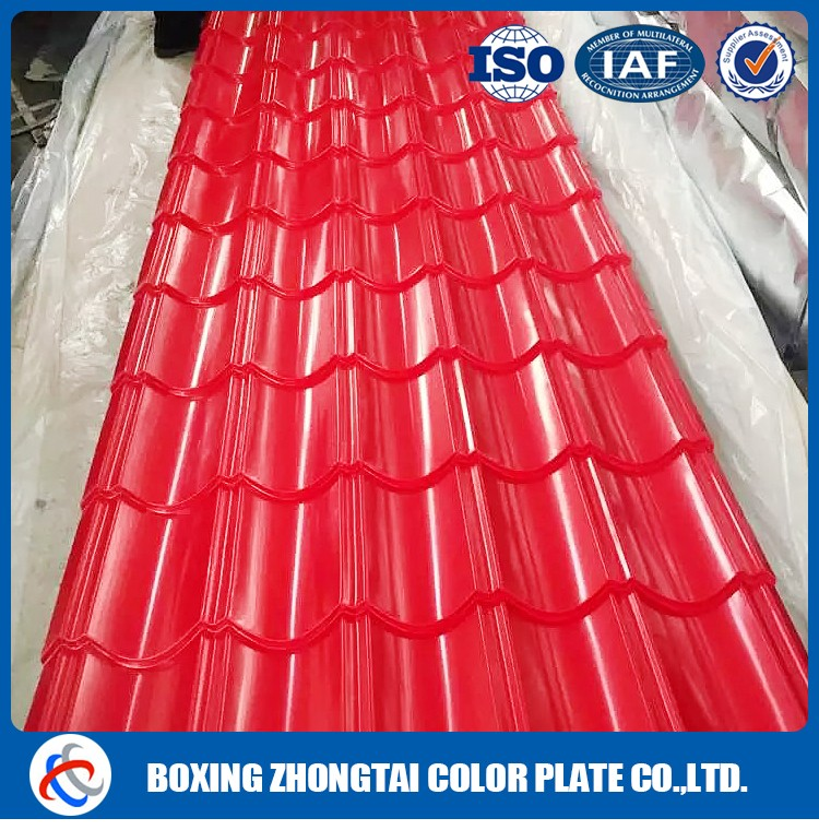 Cold rolled color corrugated steel roof