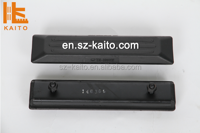 excavator rubber track pad for PC30,PC25,PC130,PC140,PC80,PC18,PC60,PC75,PC50,PC55,PC45,PC90,PC120,PC150,PC200,PC220