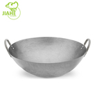 Hand Hammered 12 13 14 15 16 Inch Coating Carbon Steel Wok