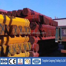 color powder coated galvanized steel pipe / color painting steel pipe price and sizes