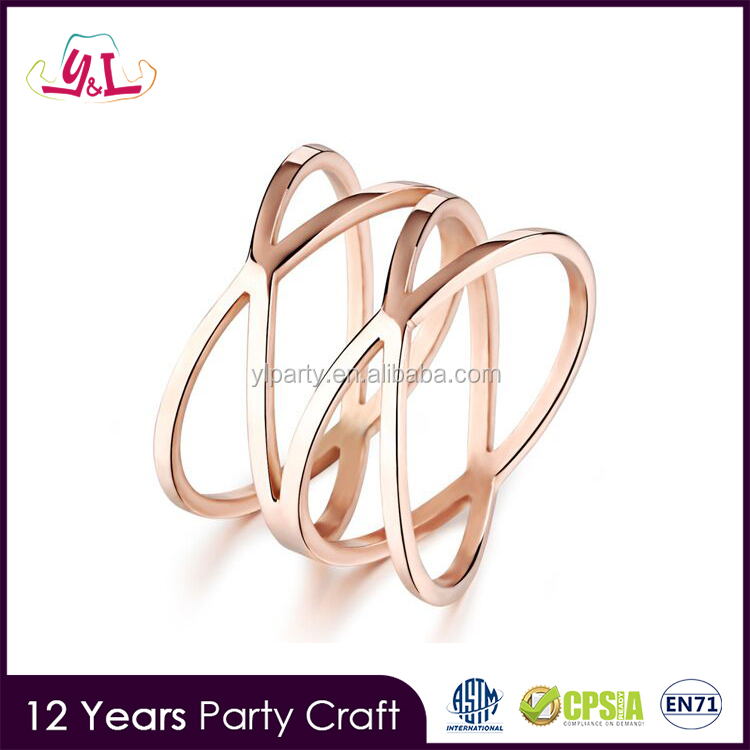 New 2017 Fashion Jewelry New Design Ladies Gold Finger Ring