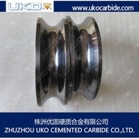 tungsten carbide descaling roller for cold rolling wire steel plants