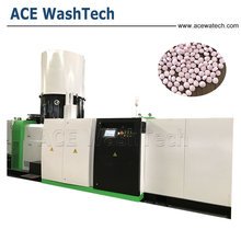 High Efficient PP PE Plastic Waste Wind Cooling Hot Cutting Pelletizing Machine For Packaging
