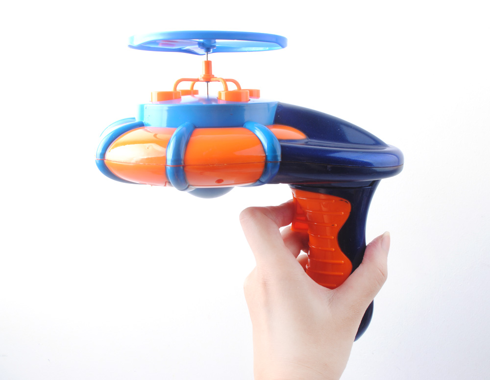 Motorized Bubble Helicopter Toy Bubble Gun With Music ...