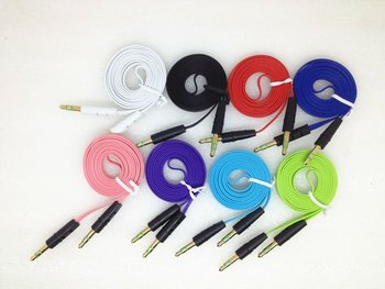 Colorful flat 3.5mm to 3.5mm Audio Extension AUX Cable for touch5
