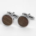 Wood cufflinks fashion men's custom wooden textile cufflinks for shirts