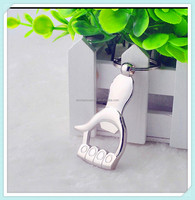 Aluminium alloy bottle opener chain key for wholesale