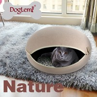 Pet products Manufacture Luxury cat bed cave house fashion soft cat kennel bedding