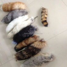 lucky lifelike real fur animal faux plush fashion cheap fake fox tails