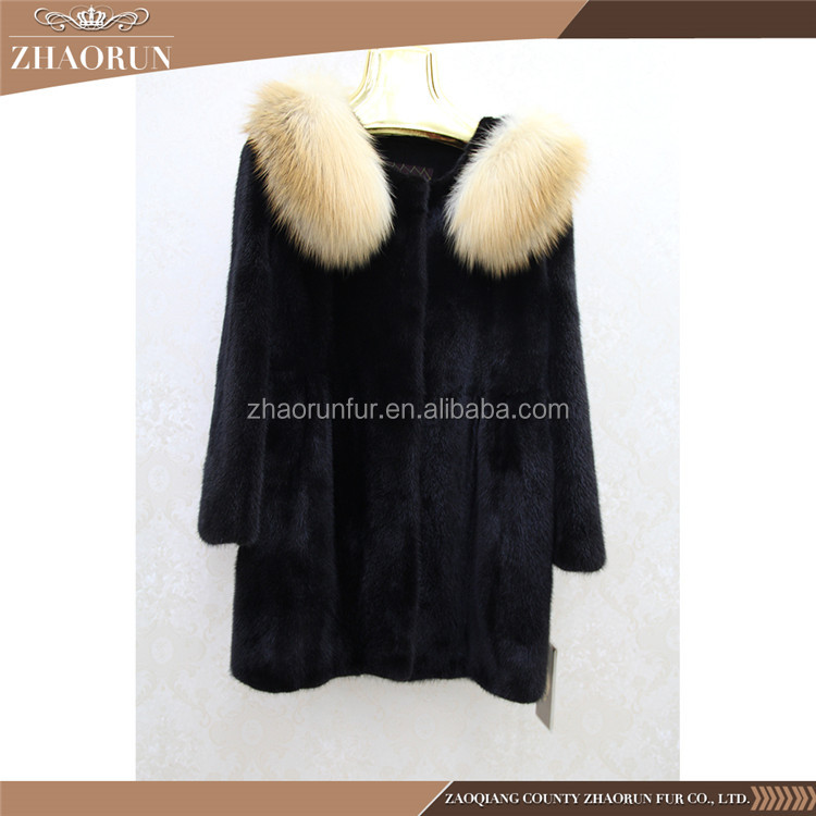 Wholesale Imported Mink Fur Korean Style Mink Fur Winter Coat And Jacket For Women