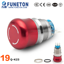 Electrical Equipment ZN-AL ALLOY(red) metal button switch, 12 volt push button switch