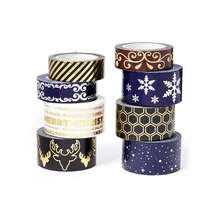 Wholesale Philippine Solid Color Paper Roll Print Japanese Custom Gold Foil Cutter Christma Washi Tape