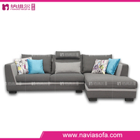 Customized size and colors modern long chair chaise corner sofa sets for living room