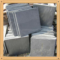 Natural black slate floor paver cut to size with back calibrated