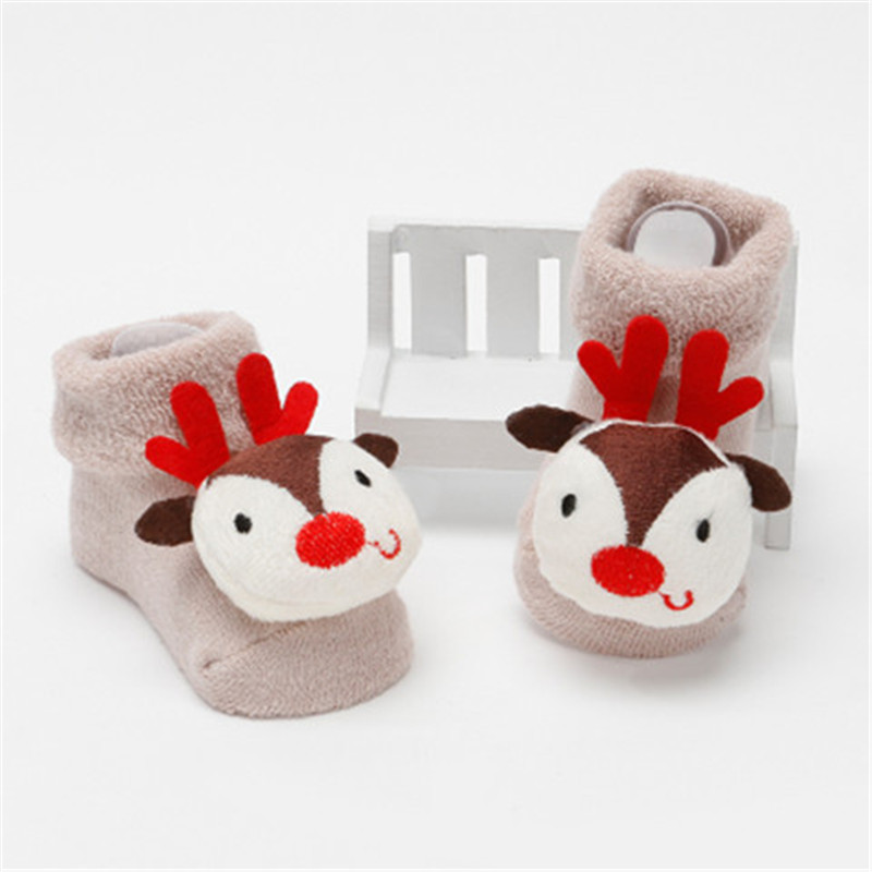 GSB-513 Deer head custom animal socks custom cute knitted toddler winter socks
