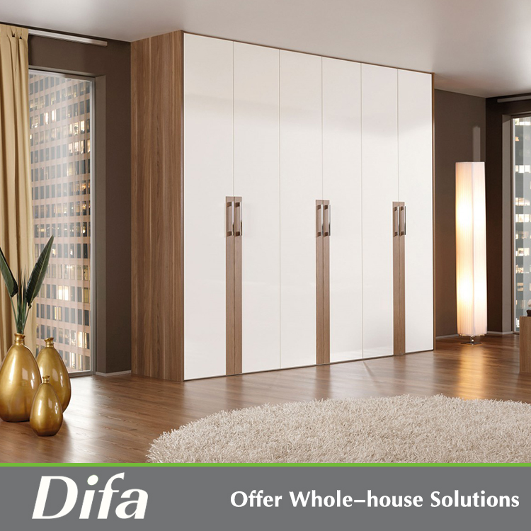 India small size movable door wardrobe design