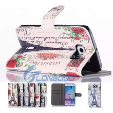 Cell phones accessory printing Luxury Magnetic clasp Leather Wallet Skin phone Cover Case for samsung