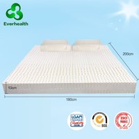 Latex free mattress topper with queen size