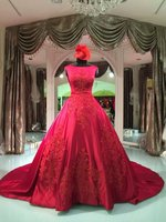 2016 Red beaming elegant Chinese style wedding dress
